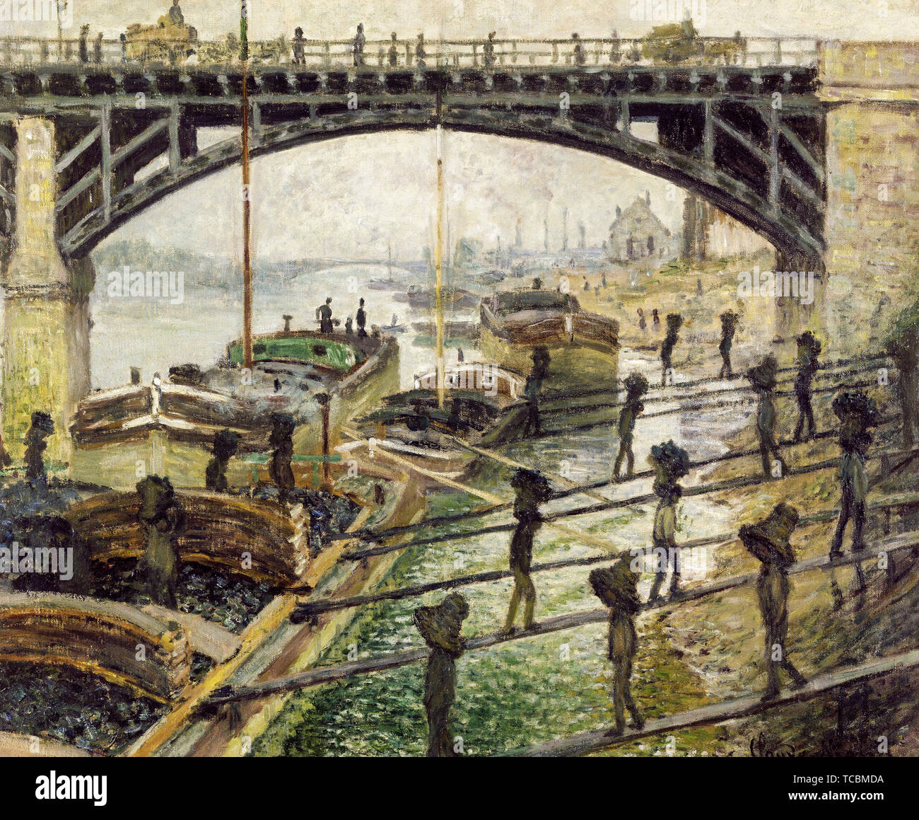 Claude Monet, The Coalmen, painting, circa 1875 - Stock Image