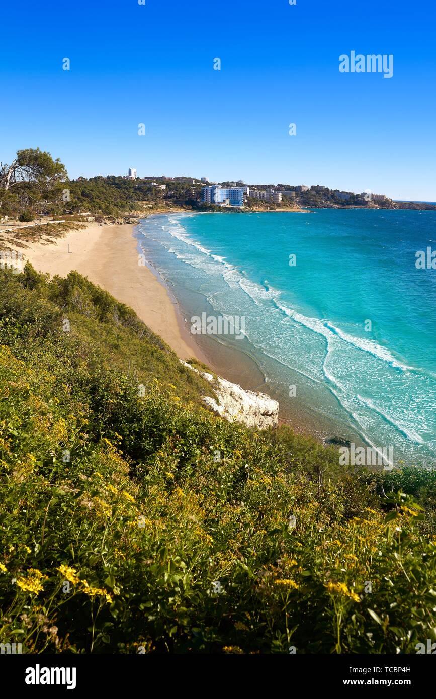 Platja Llarga Salou beach in Tarragona of Catalonia. Stock Photo