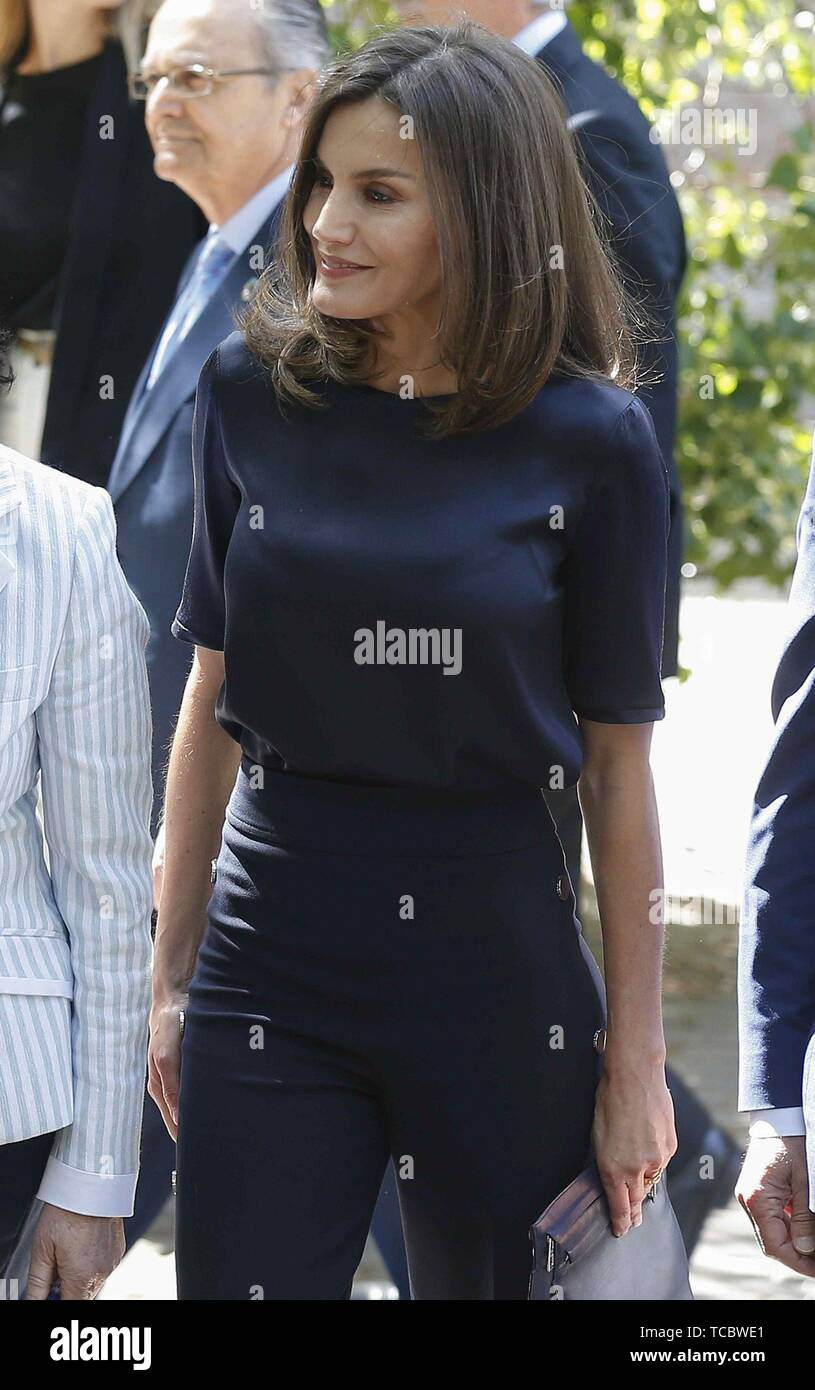 Madrid, Spain  06th June, 2019  Spanish Queen Letizia