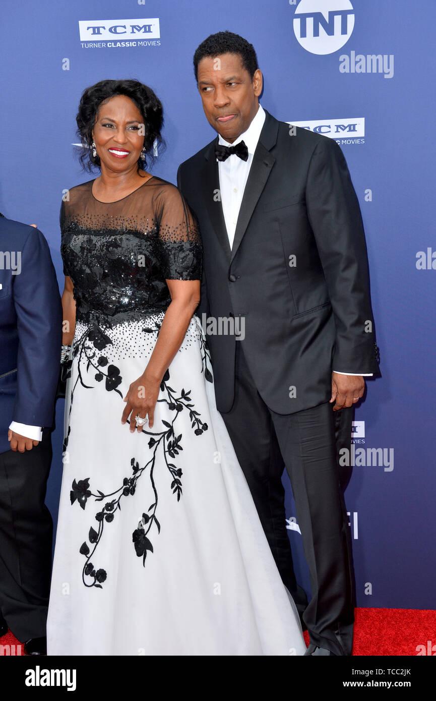 Los Angeles, USA. 6th June, 2019. LOS ANGELES, USA. : Denzel Washington & Pauletta Washington at the AFI Life Achievement Award Gala. Picture Credit: Paul Smith/Alamy Live News Stock Photo