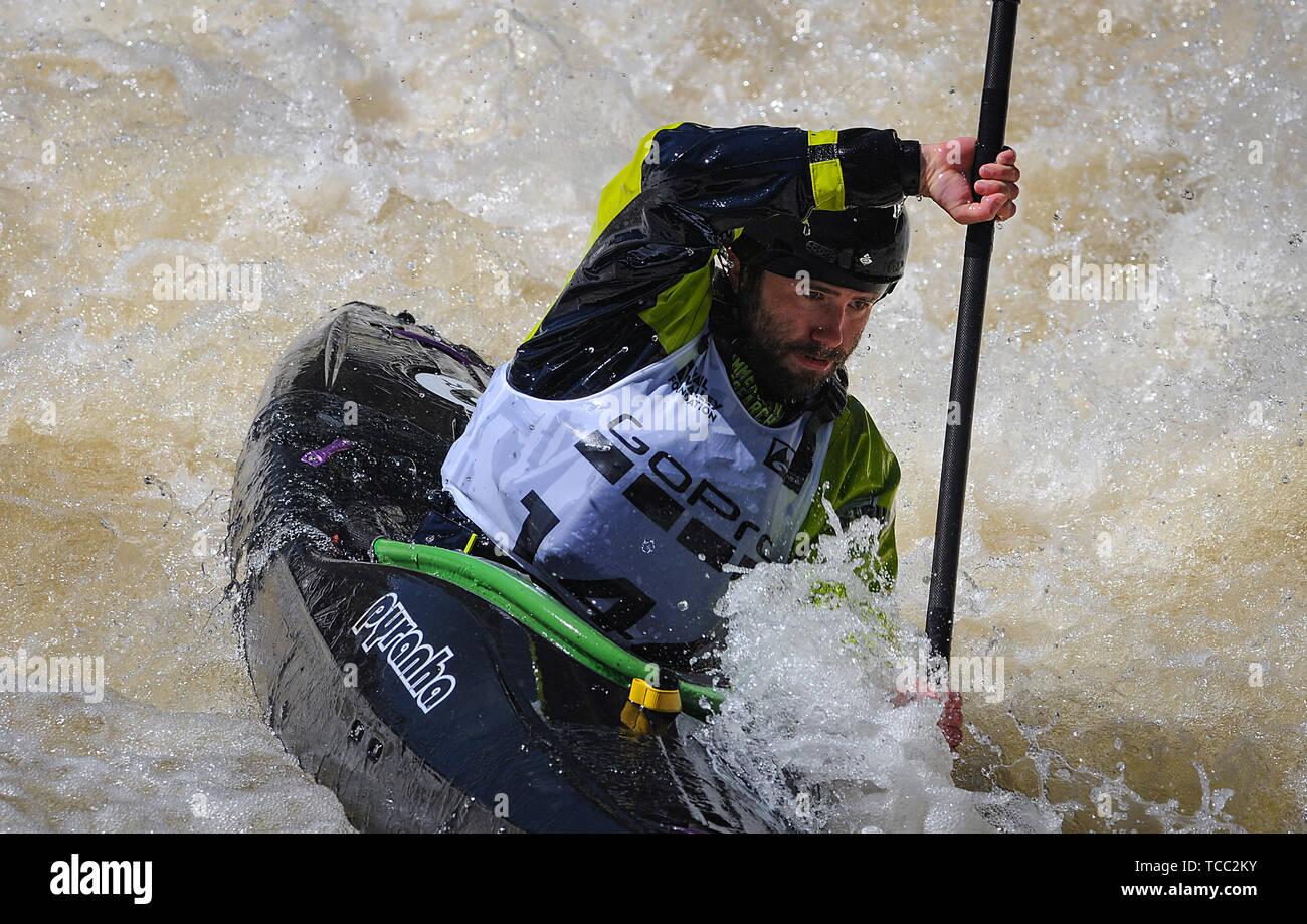Racing Kayak Kayaking Competition Paddlers Stock Photos & Racing