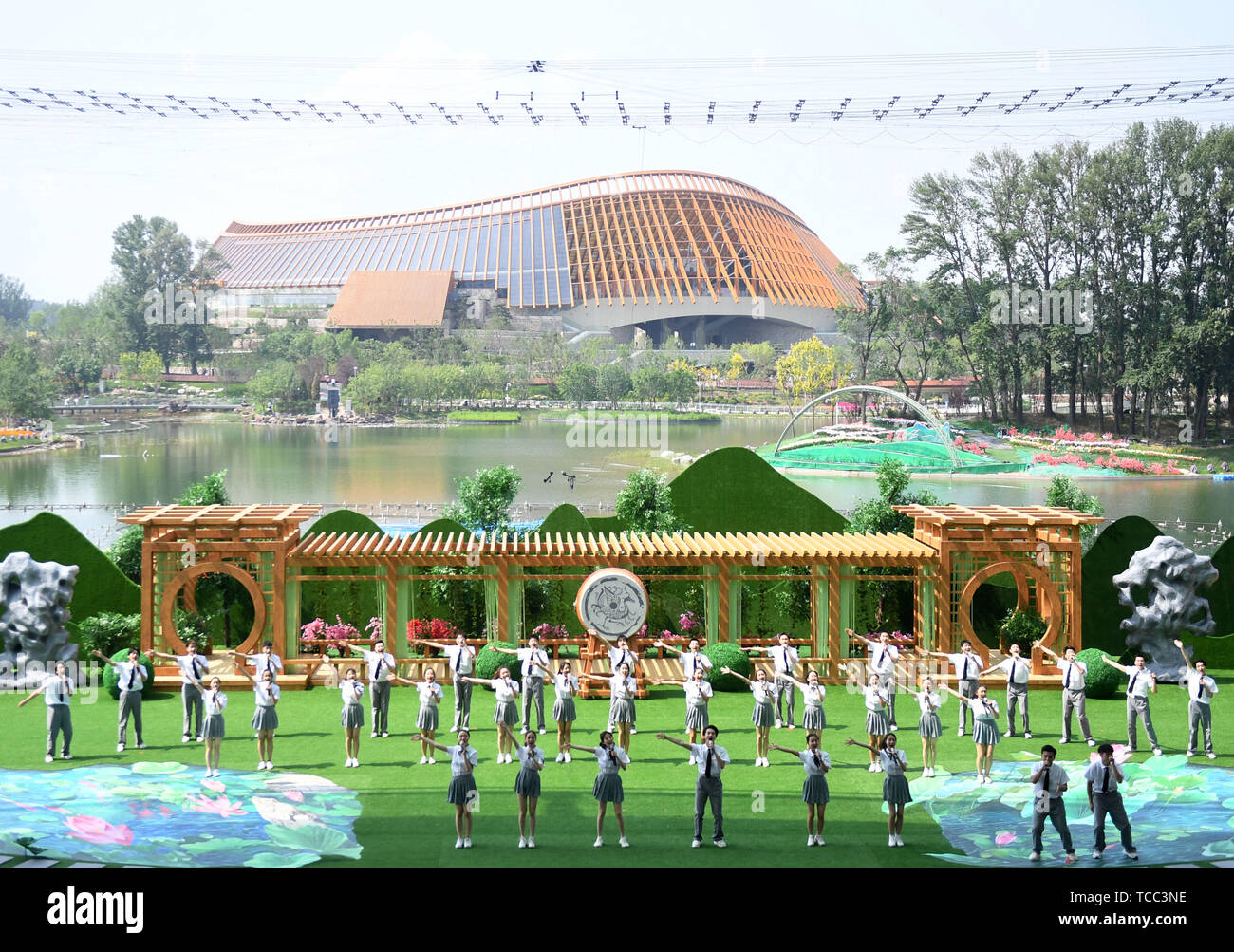 Beijing, China  6th June, 2019  Performers are seen on China