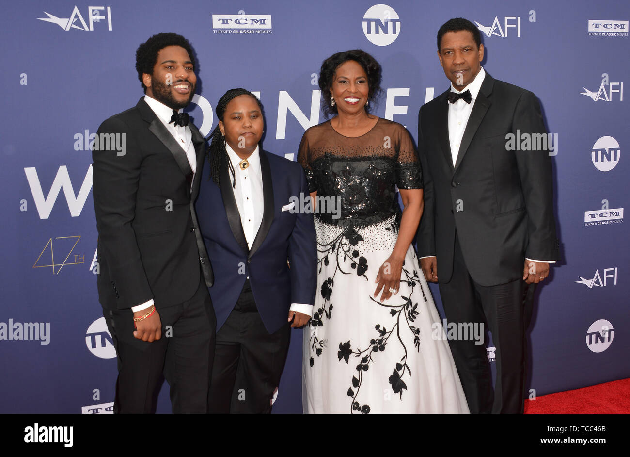 Los Angeles, USA. 06th June, 2019. Malcolm Washington, Katia Washington, Pauletta Washington, and Denzel Washington 083 attends the American Film Institute's 47th Life Achievement Award Gala Tribute To Denzel Washington at Dolby Theatre on June 6, 2019 in Hollywood, California Credit: Tsuni/USA/Alamy Live News Stock Photo