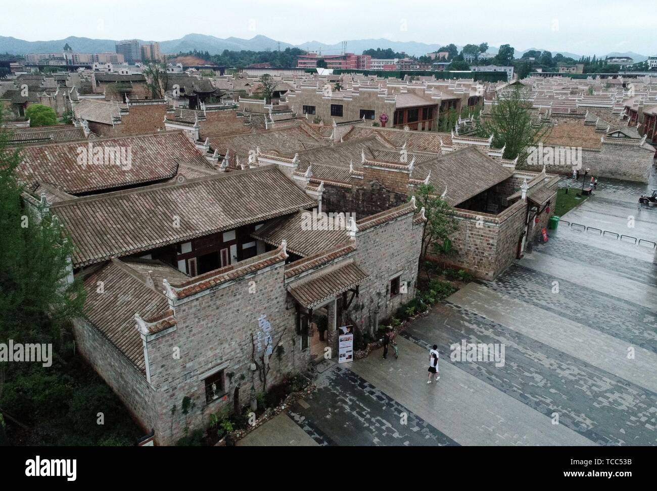 Nanchang. 6th June, 2019. Aerial photo taken on June 6, 2019 shows homestays in Wanzai County of Yichun, east China's Jiangxi Province. Homestay tourism in Wanzai County is booming as local government has made constant efforts in integrating culture industry and tourism. Credit: Peng Zhaozhi/Xinhua/Alamy Live News Stock Photo