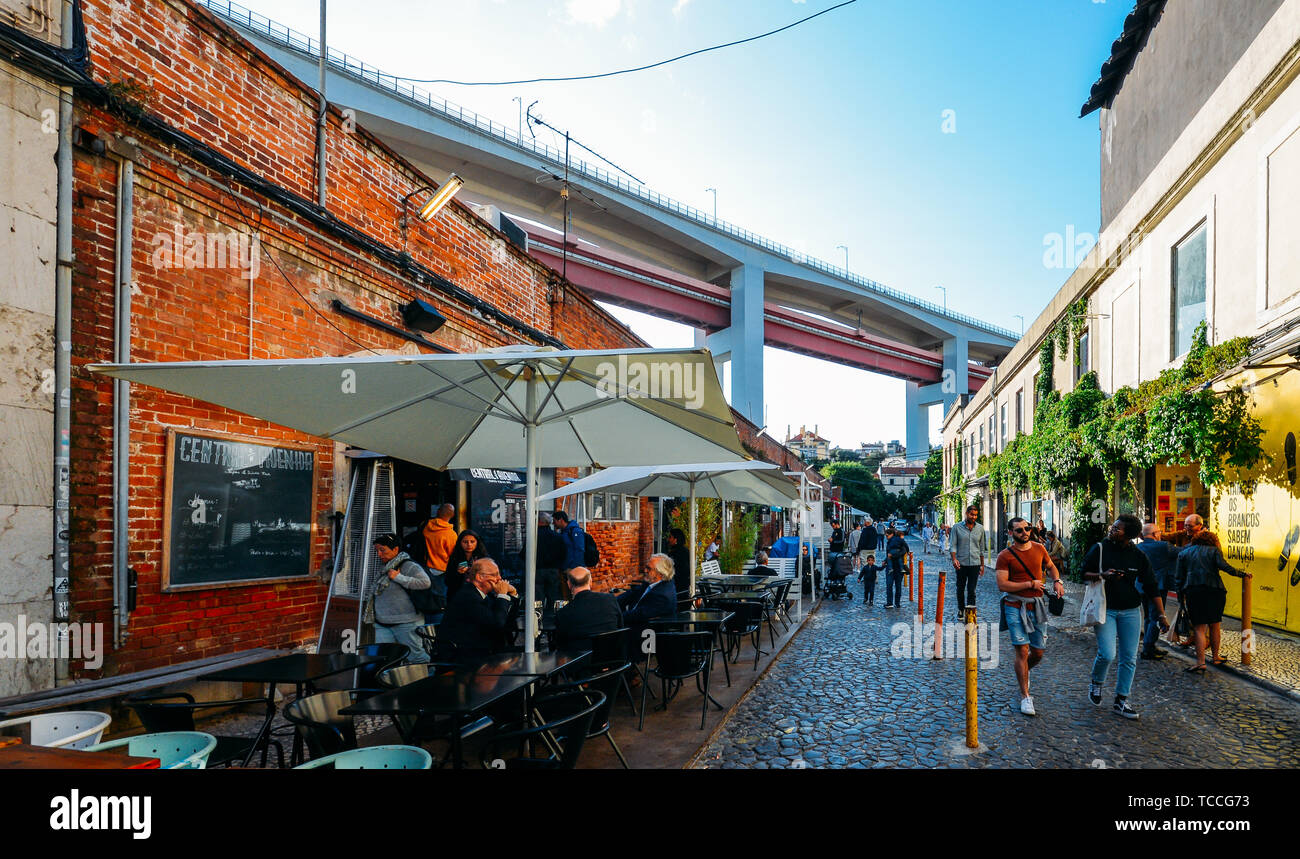 Lisbon Portugal June 5 2019 Creative And Cultural Area
