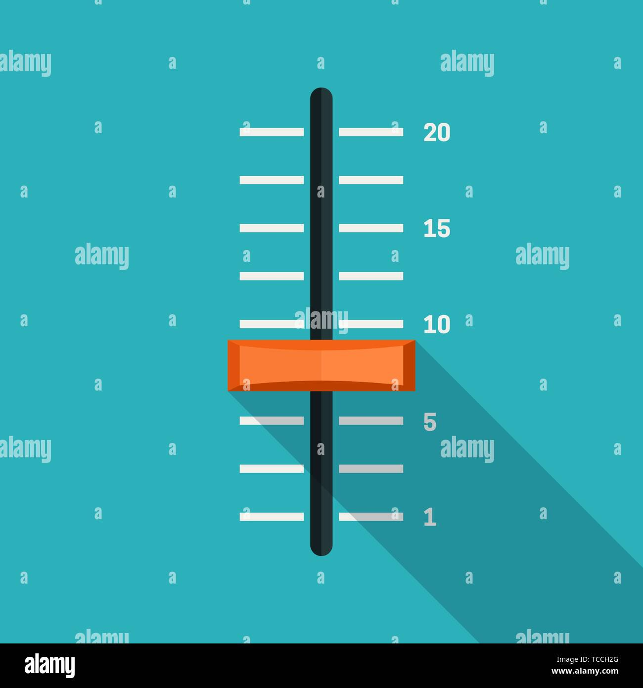 Slider flat icons - Stock Vector