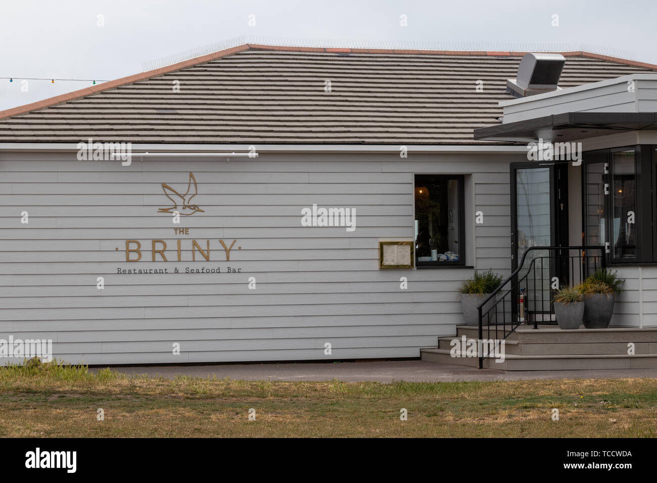 The Briny restaurant and bar in Southsea Stock Photo