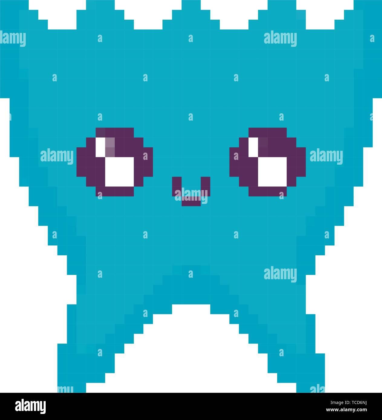 video game pixelate creature vector illustration design - Stock Image