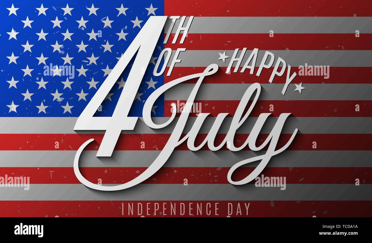 Happy Independence Day Gift Invitation Card For 4th Of July