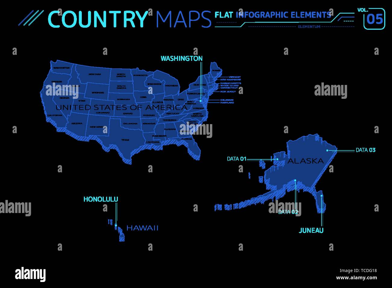 Map Of California And Hawaii.United States Map Alaska And Hawaii Stock Photos United States Map