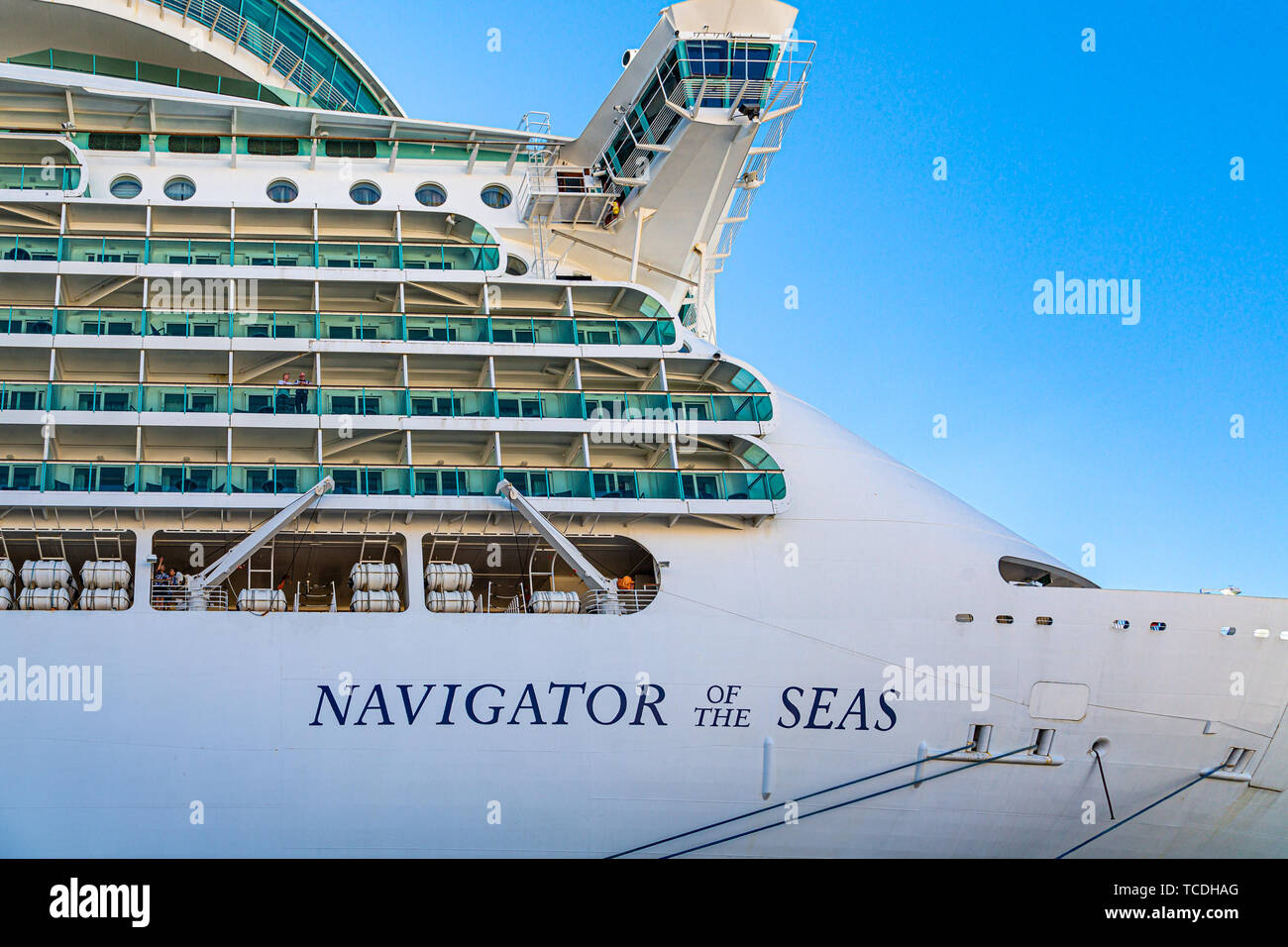 Bow of Navigator of the Seas - Stock Image