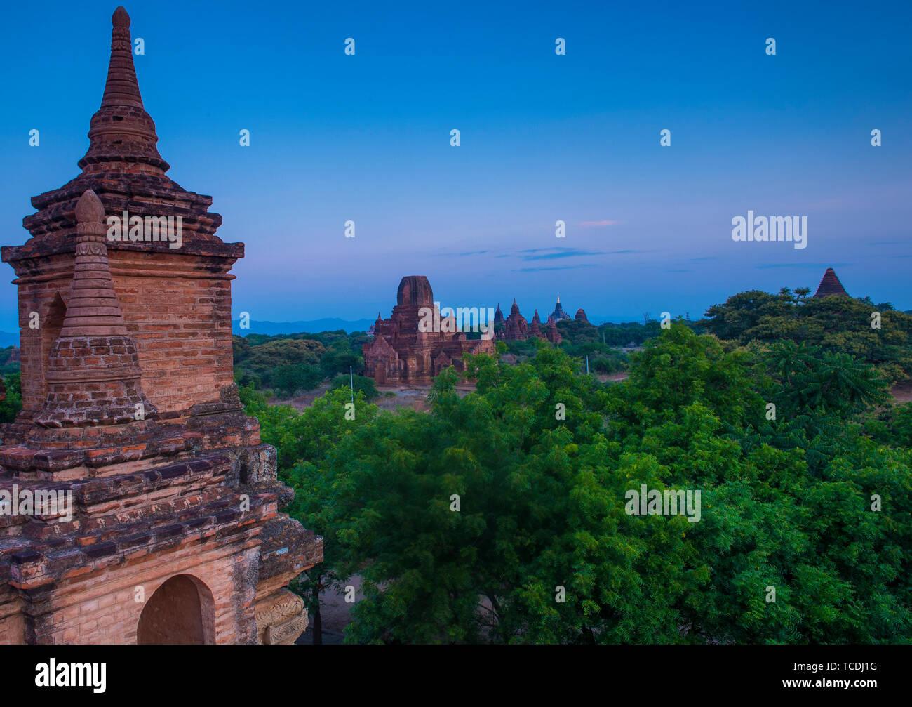 The Temples of bagan in Myanmar. Stock Photo