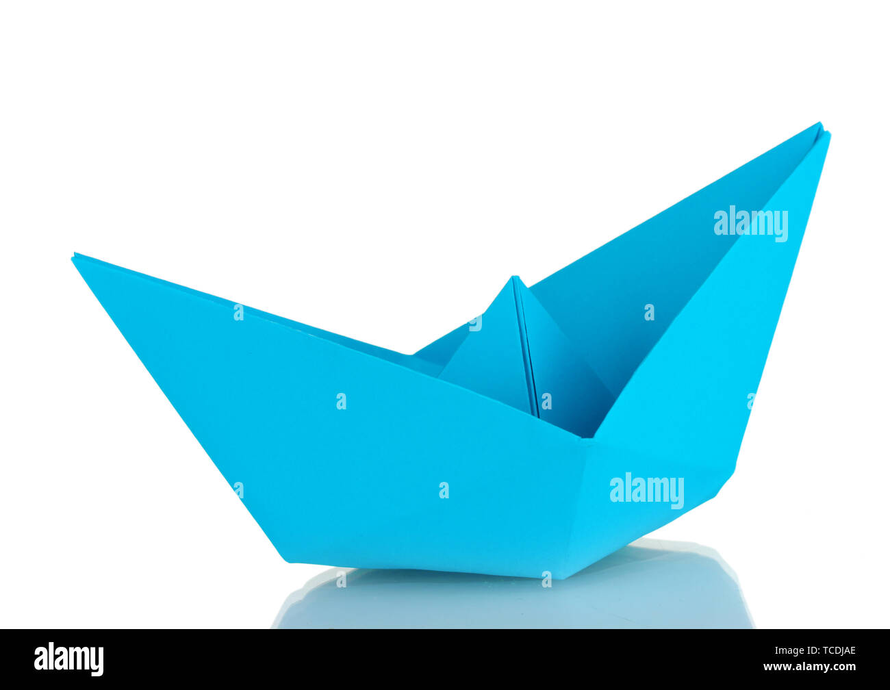 Origami Paper Boat Isolated On White Stock Photo 248620806 Alamy