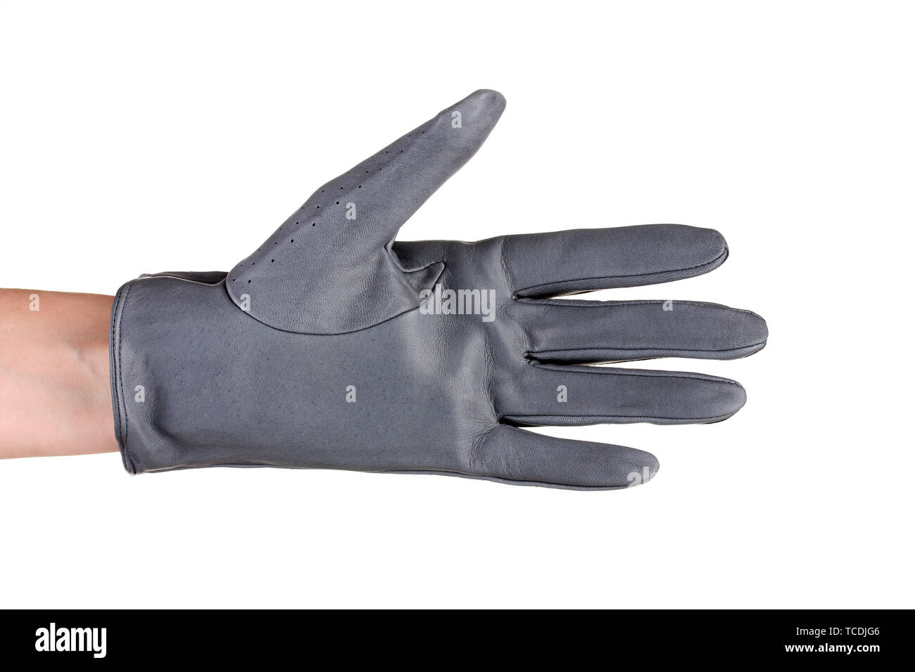 62c65b98d One Leather Glove Isolated On Stock Photos & One Leather Glove ...