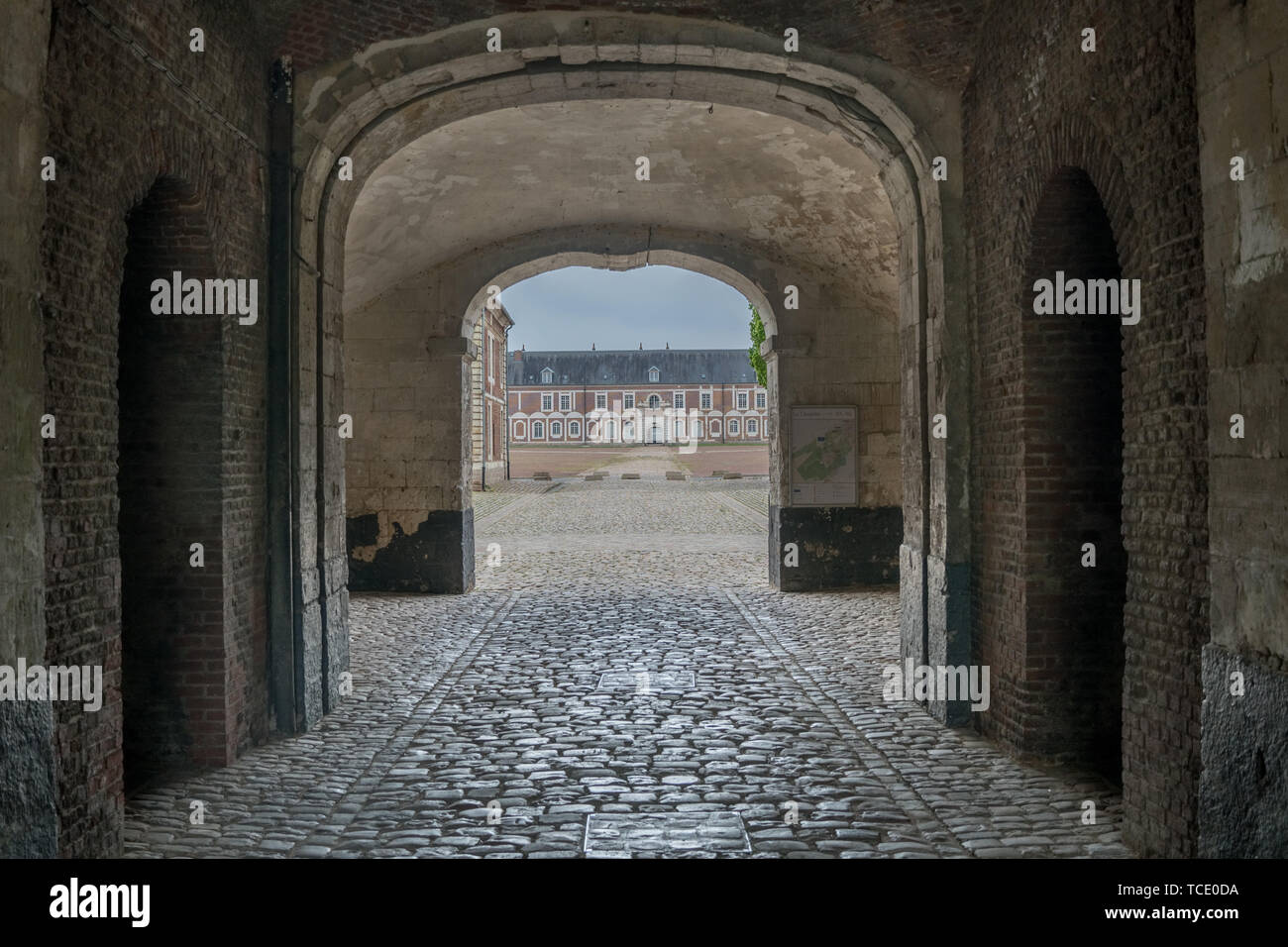 Arras, France - May 2, 2019 - The citadel, part of the 'Fortifications of Vauban' group - UNESCO World Heritage Site of France. - Stock Image