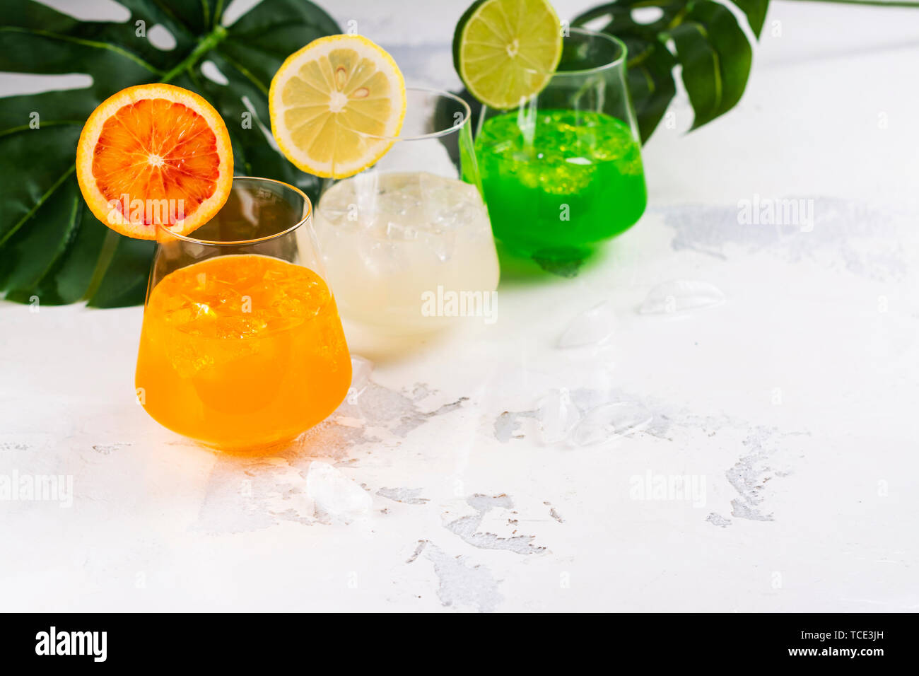 Tropical summer cocktails Stock Photo
