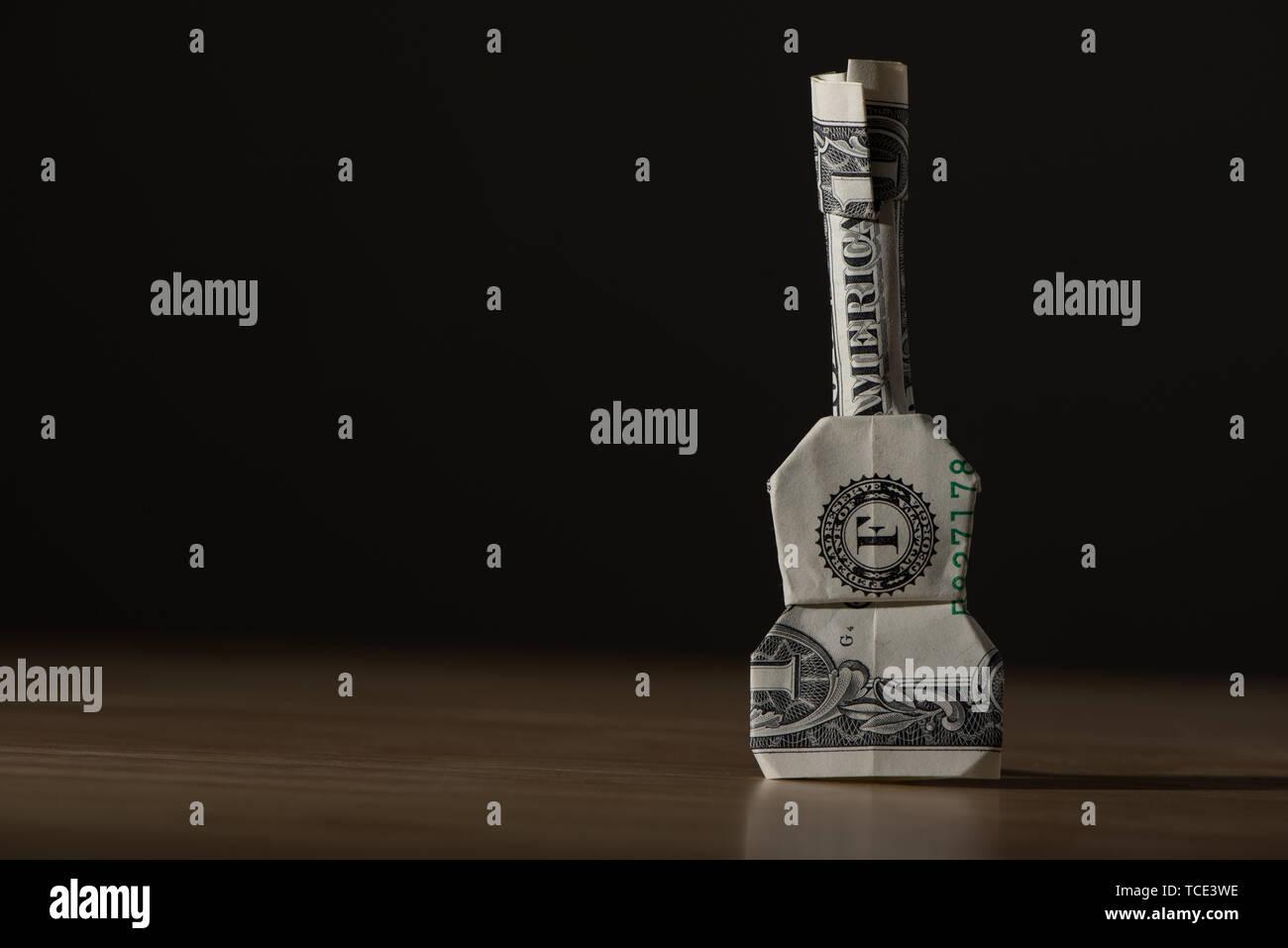 Guitar Money Origami - Dollar Bill Art | Money origami, Dollar ... | 957x1300