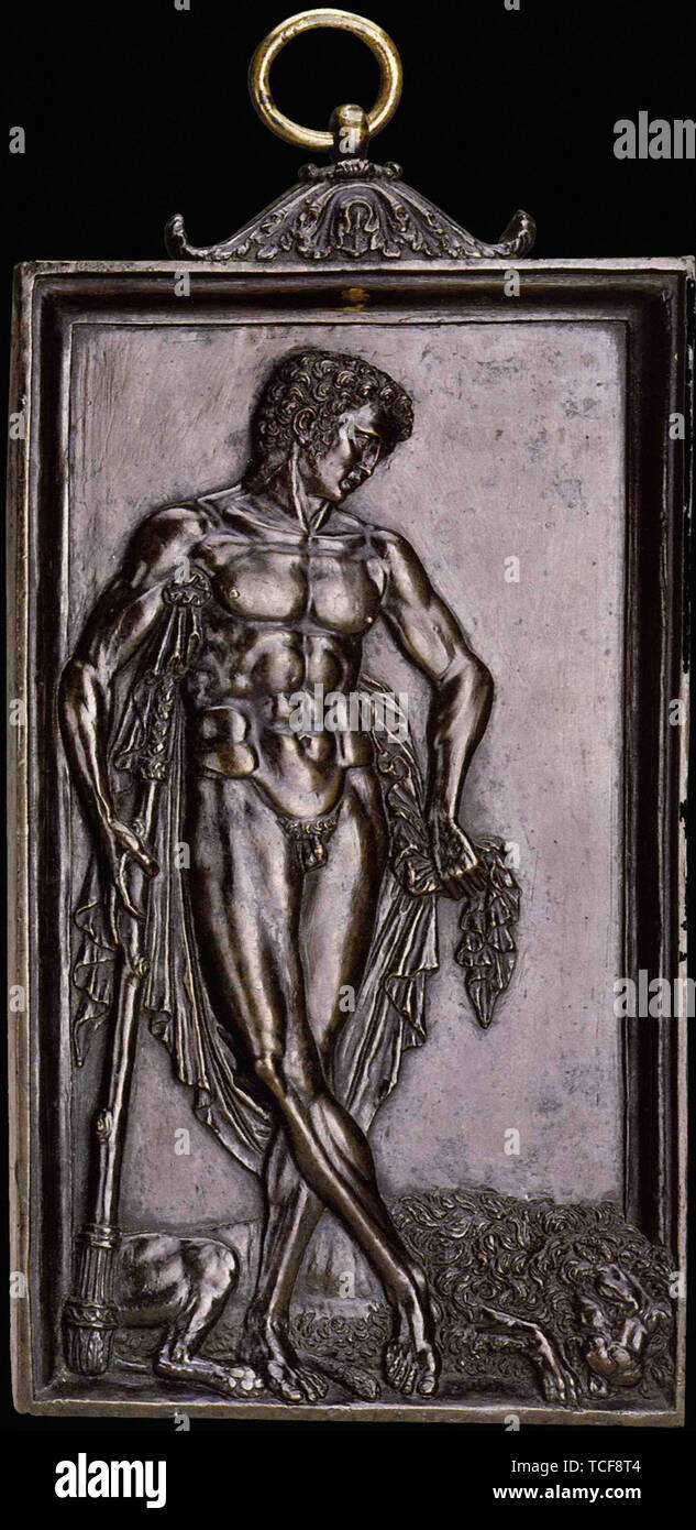 Andrea Mantegna - Hercules Resting After Fight With Lion Denemee 1500 - Stock Image