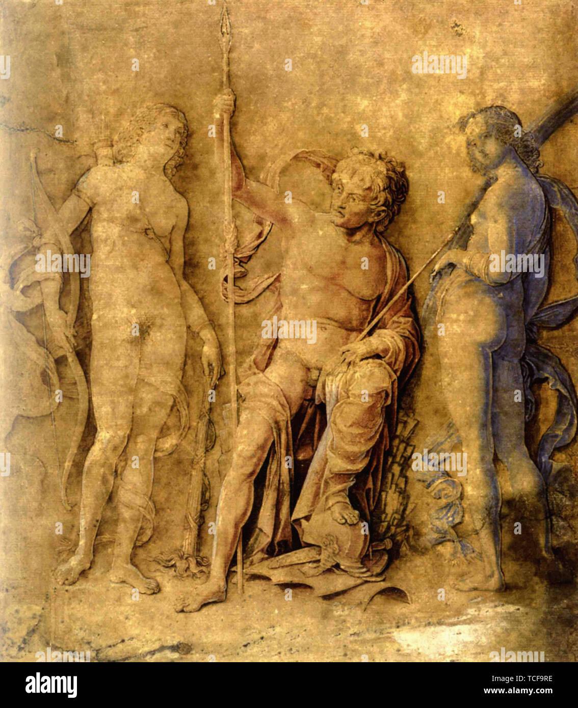 Andrea Mantegna - Three Deities 1500 - Stock Image