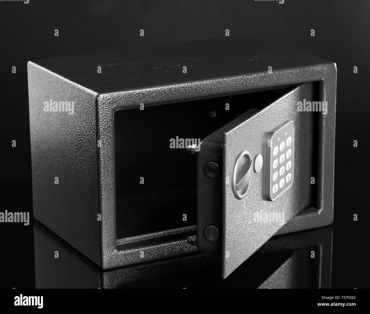 safe on black background - Stock Image
