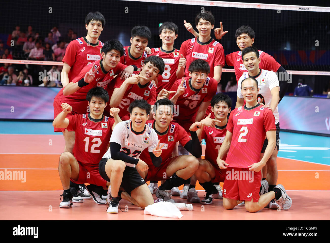 Volleyball Japan National Team Group High Resolution Stock Photography And Images Alamy