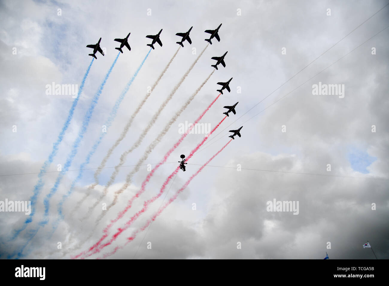 Paris, France  07th June, 2019 French Air Force squadron