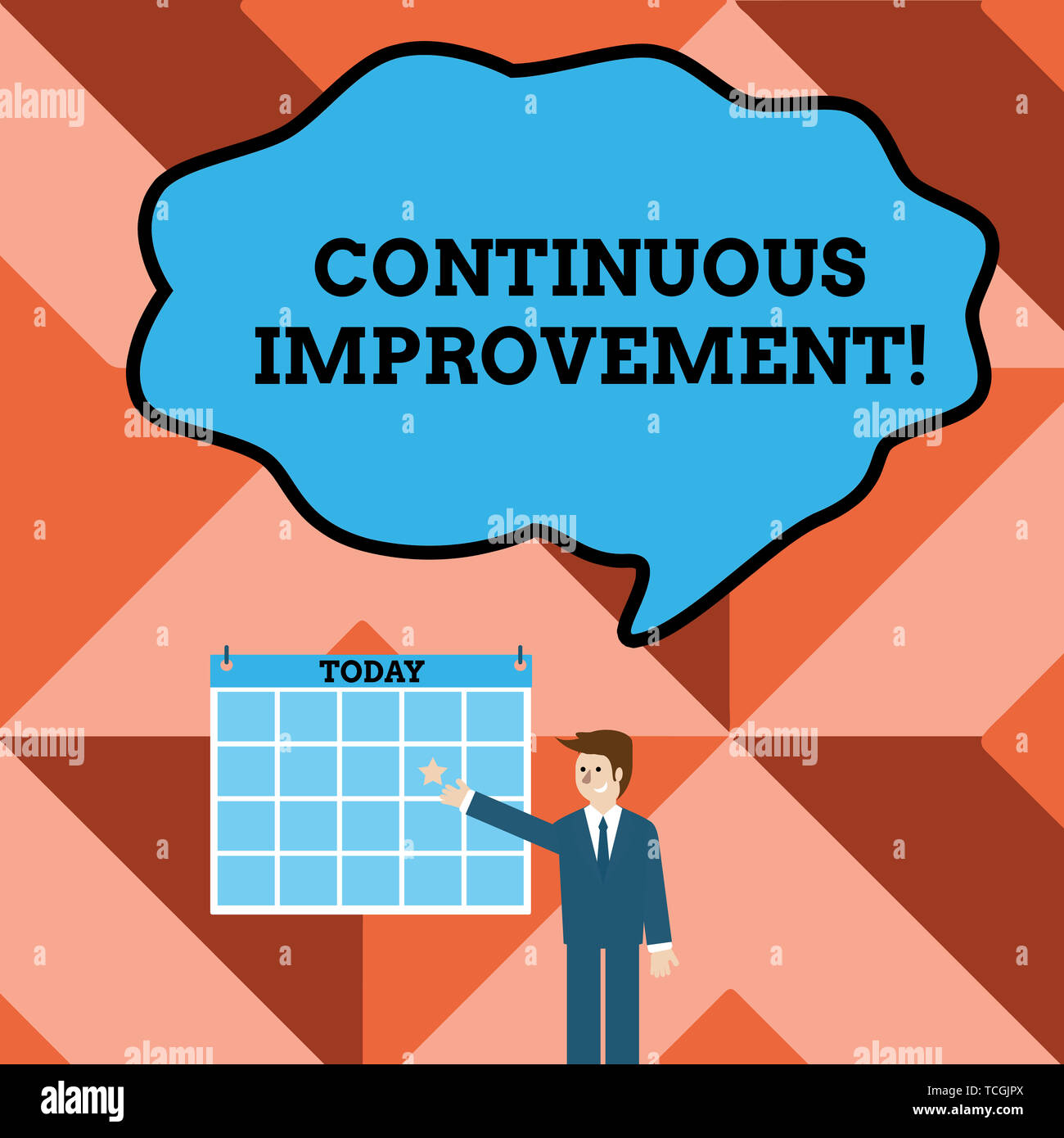 Conceptual hand writing showing Continuous Improvement