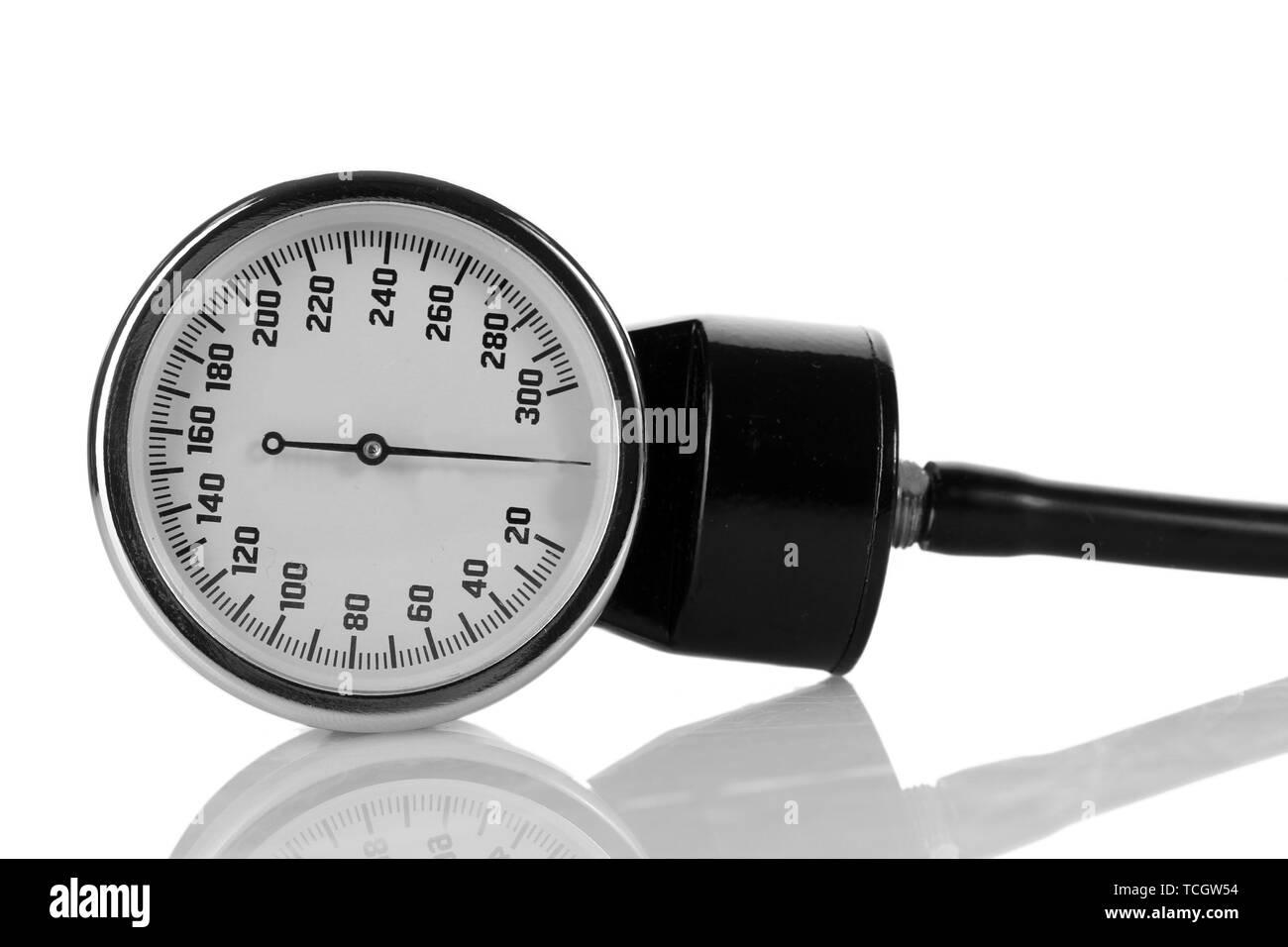 tonometer isolated on white - Stock Image