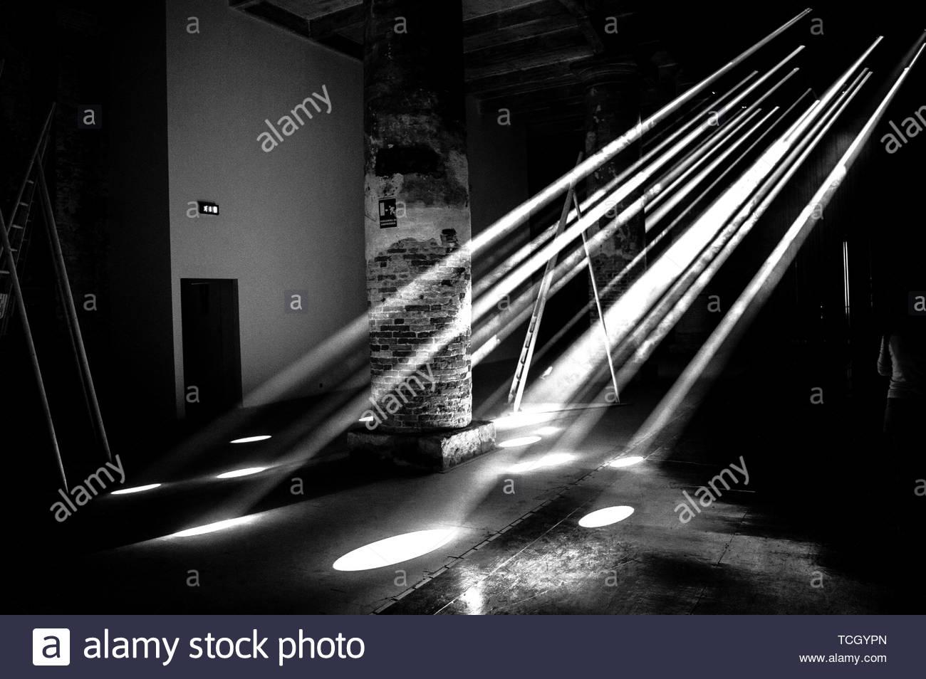 baldes of lights - Stock Image