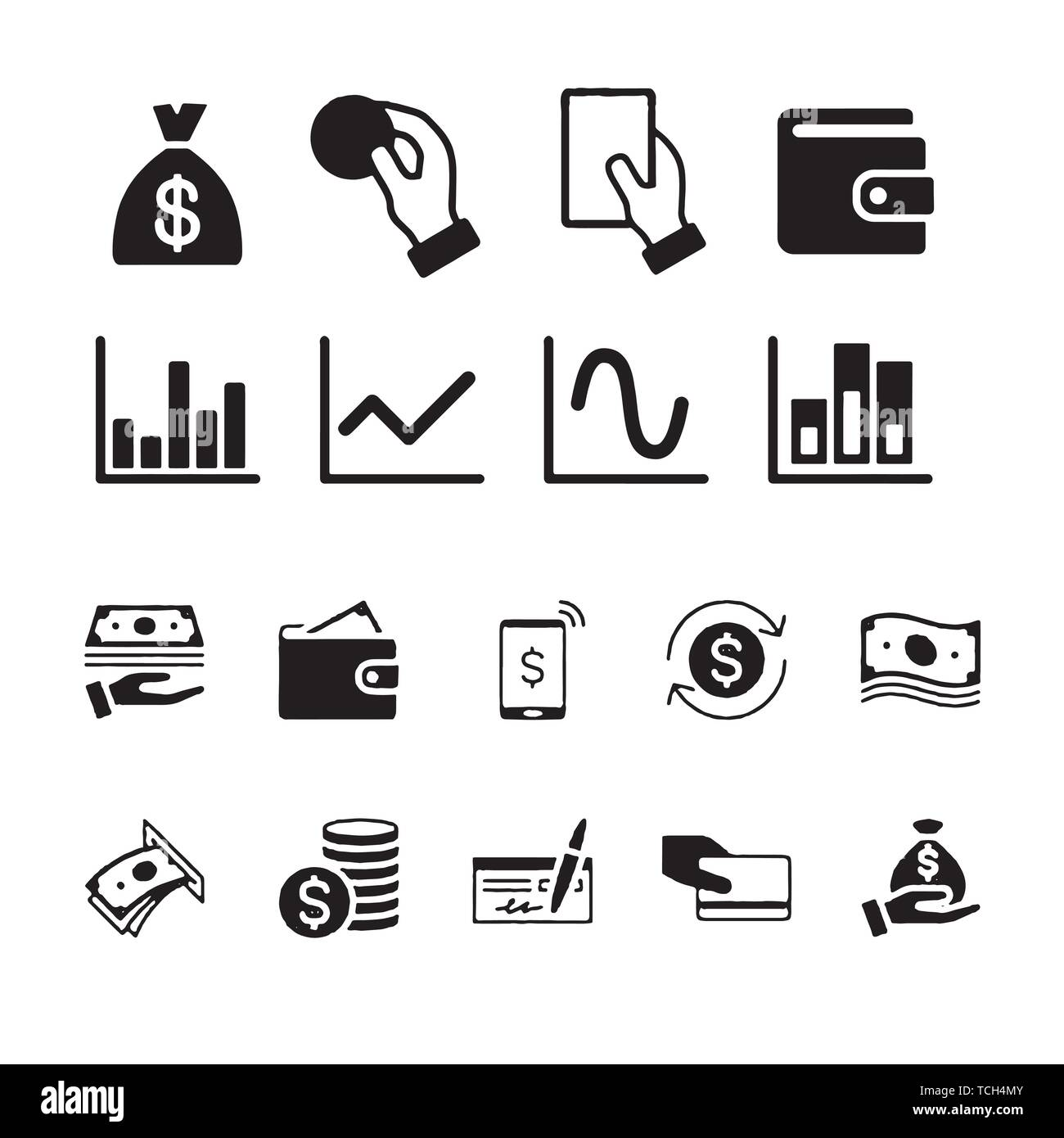 money and payment icons cash wallet and coins account cashback classic icon set quality set vector stock vector image art alamy alamy