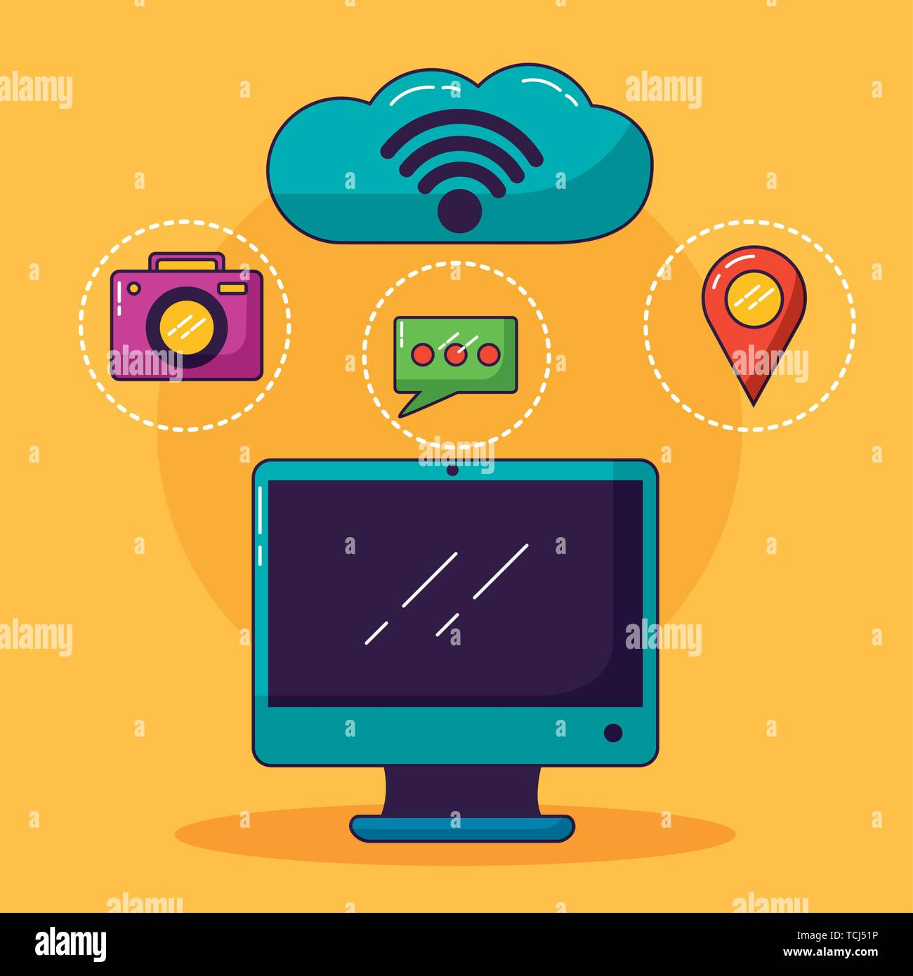 wifi free connection - Stock Image