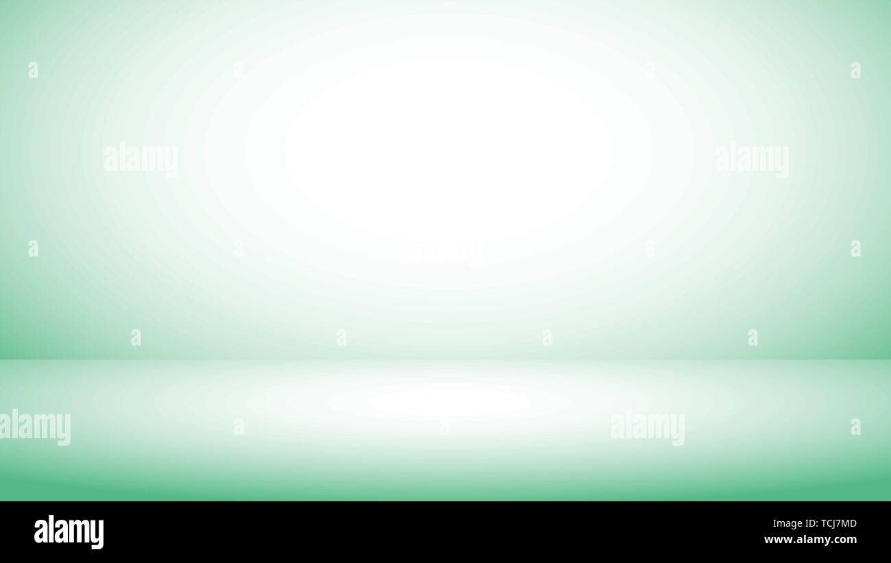 Abstract background light green gradient studio for backdrop design bokeh composition for , website, magazine or graphic for commercial campaign - Stock Vector