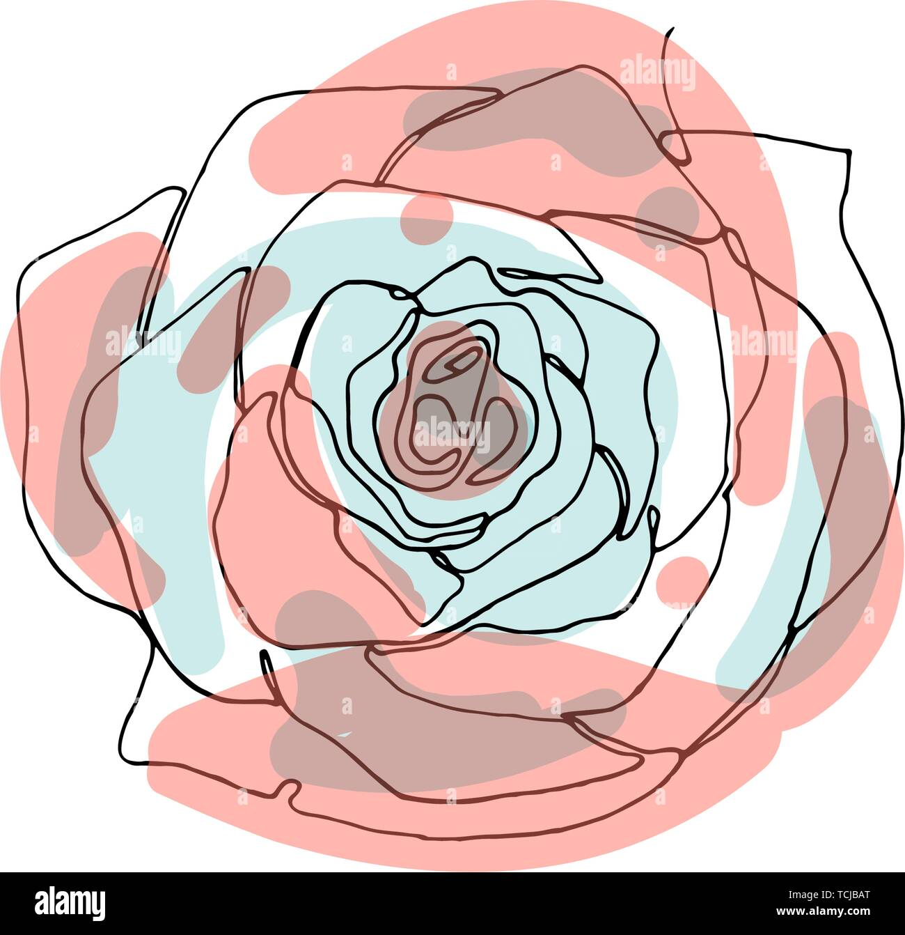 Hand Drawn Minimalistic Rose Flower One Single Continuous Black Line Simple Drawing Isolated On White Background Stock Vector Illustration Stock Vector Image Art Alamy