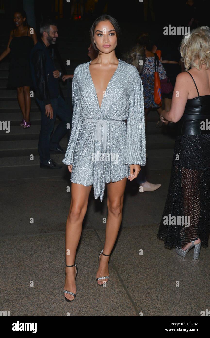 E! Entertainment, Elle and IMG Kick-Off Party, Arrivals, Spring Summer 2019, New York Fashion Week, USA - 05 Sep 2018 - Shanina Shaik - Stock Image