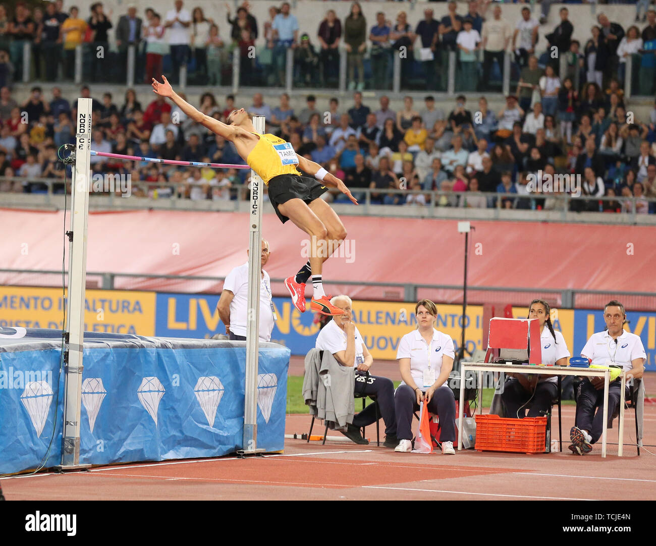 ROME, ITALY - JUN 06: Marco Tamberi of Italy competes in front of his crowd  in the Men High Jump event during the IAAF Diamond League 2019 Golden Gala  Stock Photo - Alamy