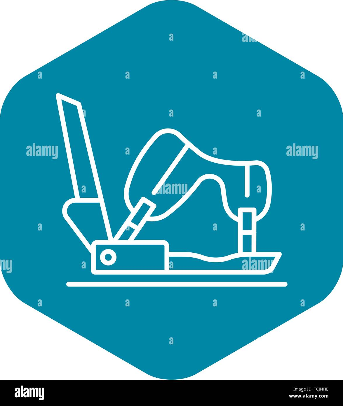 Shoe protect icon, outline style Stock Vector