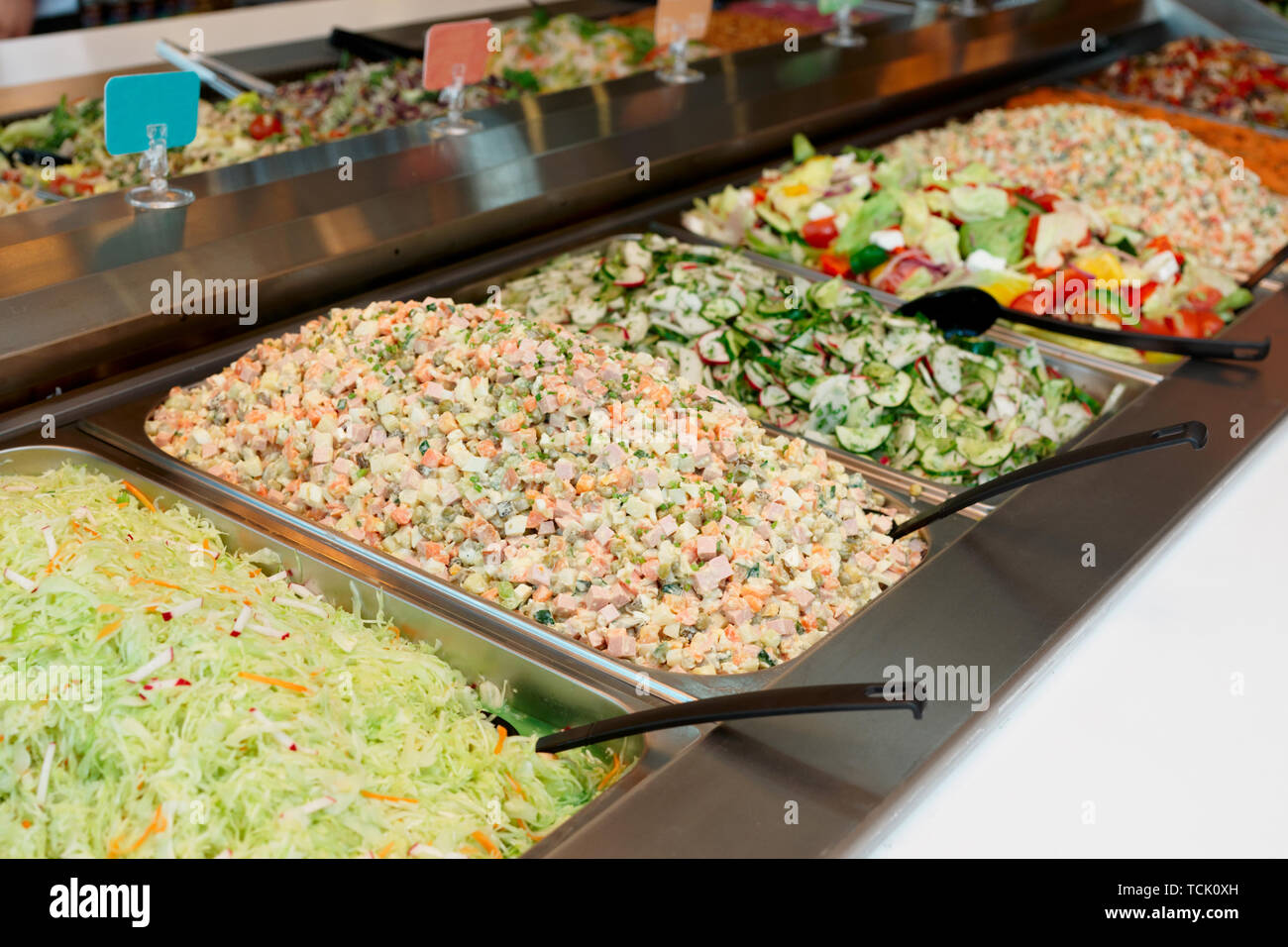 Self Service Salad Bar Stock Photos Amp Self Service Salad