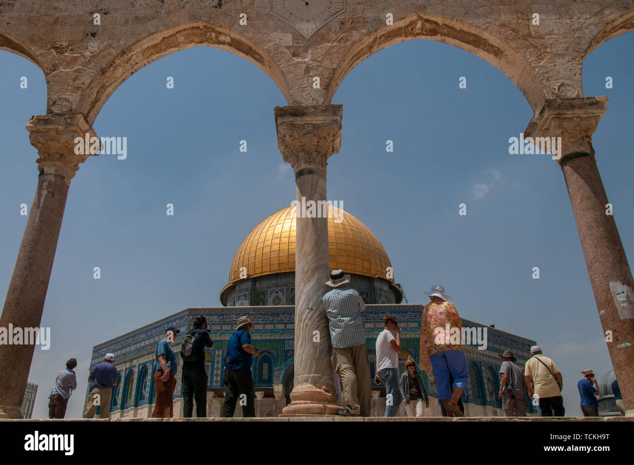 In awe of the Dome - Stock Image
