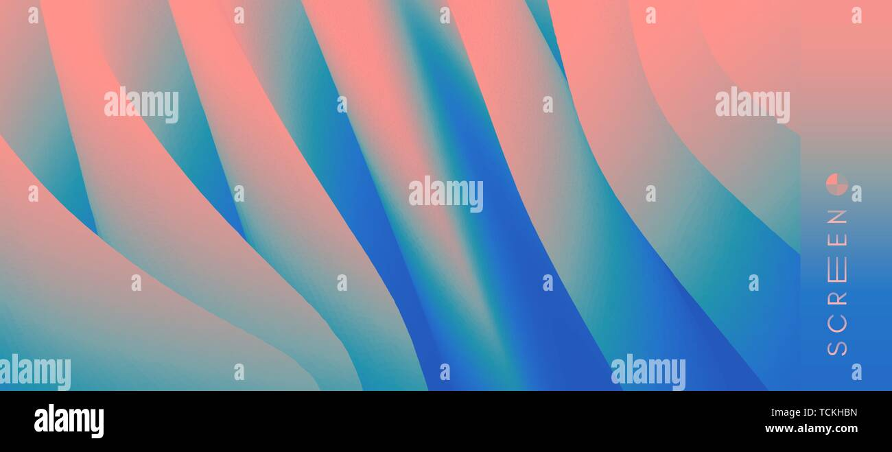 Abstract background with dynamic effect. Optical illusion of distortion of space. Modern pattern. 3d vector illustration for design. - Stock Image