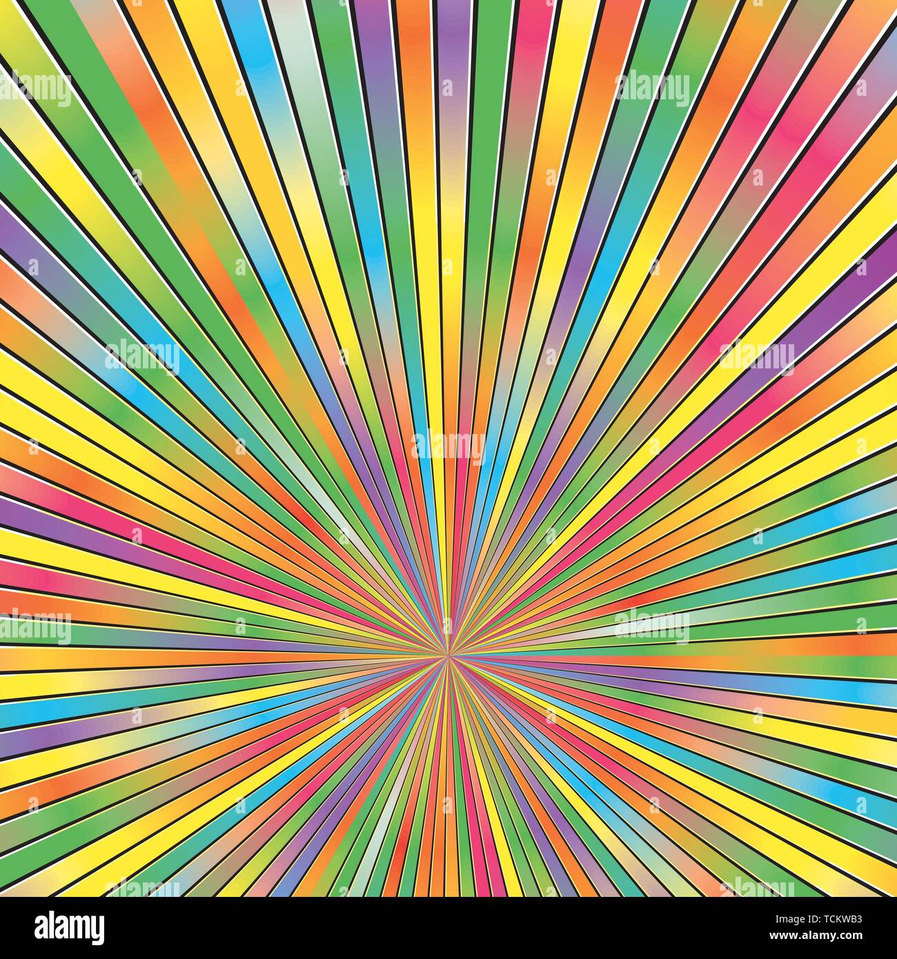 Colorful Abstract Sunburst Rays  Background Pattern Texture. Modern Concept In Vector .EPS file.No Raster Effects. - Stock Image