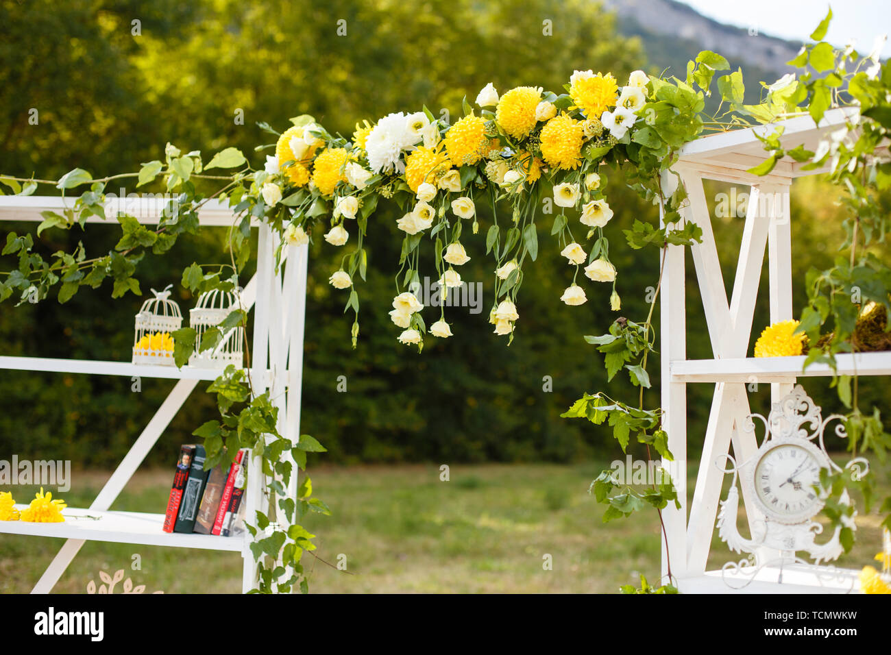 Happy Outdoor Ceremony Scene For A Summer Mountain Wedding Wed