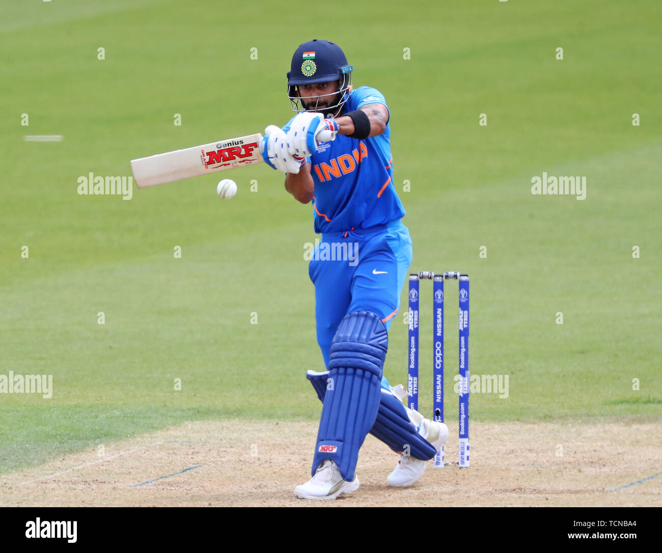 London, UK. 09th June, 2019. Virat Kohli of India batting during the ICC Cricket World Cup match between India and Australia, at The Kia Oval, London. Credit: Cal Sport Media/Alamy Live News Stock Photo