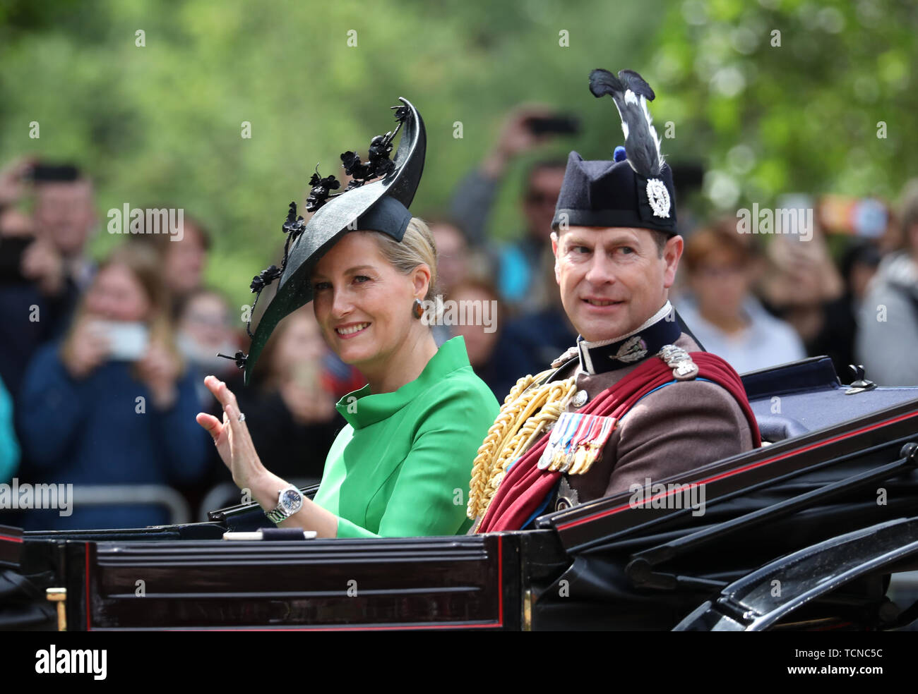Sophie (Duchess of Wessex), pictured at the Trooping of the
