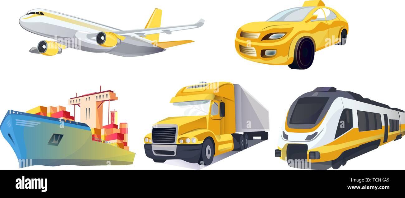 Vector Transport logistics and transportation  Global
