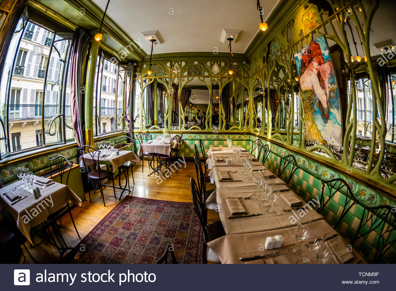 Bouillon Racine (restaurant), Latin Quarter, Left Bank, Paris, France. - Stock Image