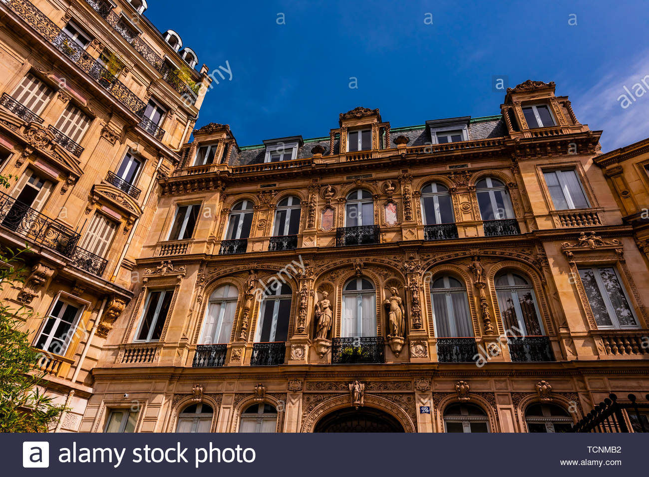 Hotel de la Paiva (Mansion of La Paiva) is an historic townhouse located at 28 Place St. Georges in the 9th arrondissement, Paris, France. Stock Photo