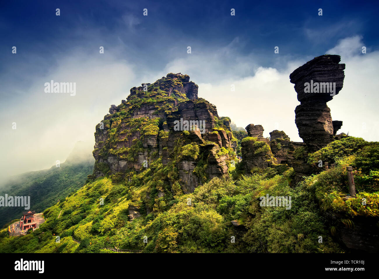 Unique geological landform - mount fanjing in guizhou province,China Stock Photo
