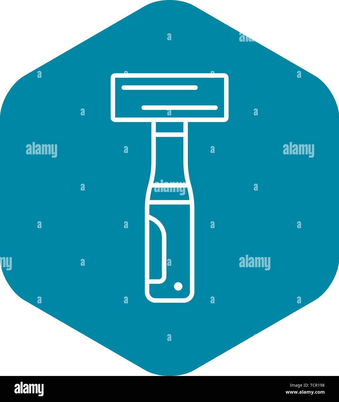 Welder hammer icon, outline style - Stock Image