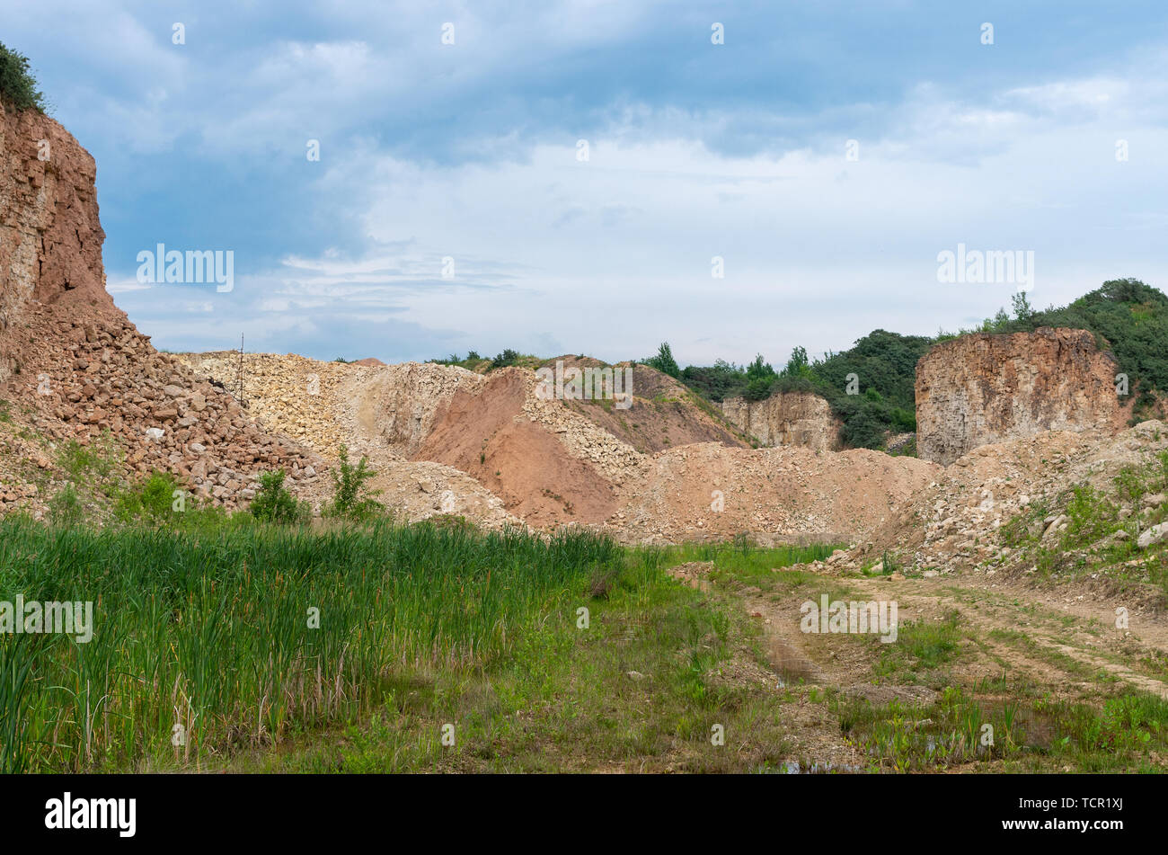Limestone mining for cement plant somewhere in Lithuania