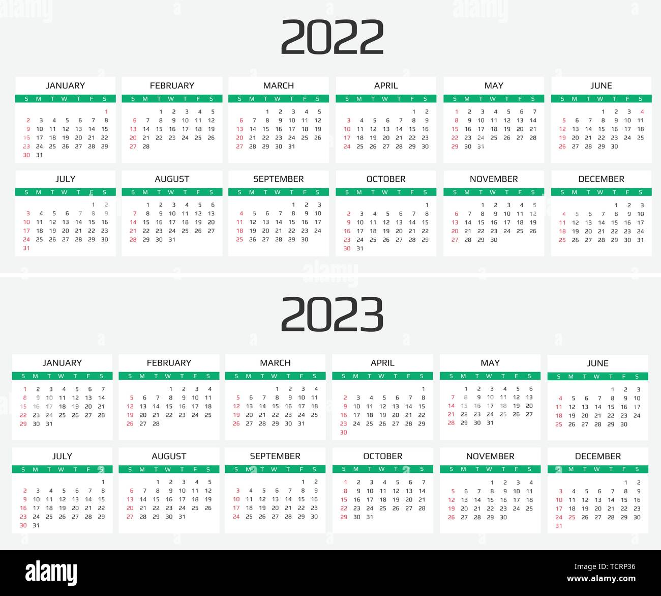 Calendrier 2022 2023 2022 Calendar 2022 and 2023 template. 12 Months. include holiday event